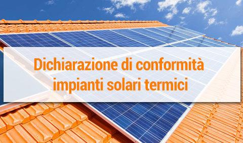 Aggiornamento MarioDOC: nuovo modulo dichiarazione di conformità impianti solare termico